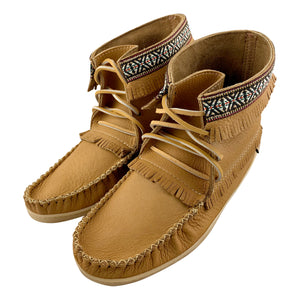 Men's Clearance Moose Hide Leather Moccasin Boots (SIZE  7 & 8 ONLY)