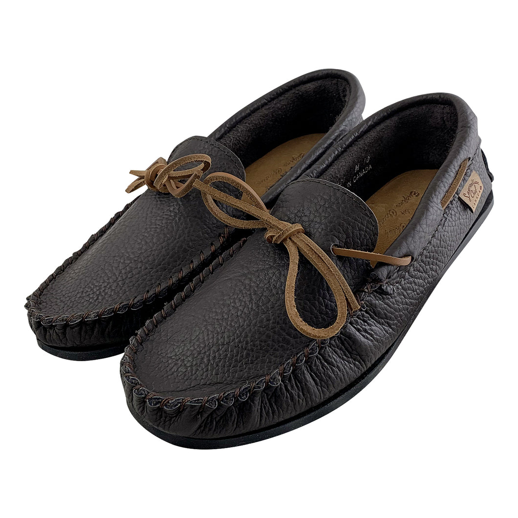 Men's Buffalo Hide Leather Moccasin Shoes