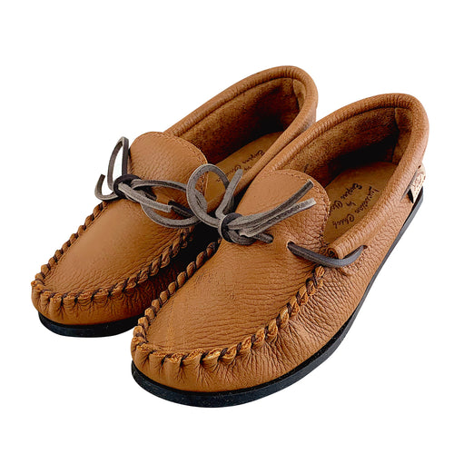 Women's Elk Hide Leather Moccasin Shoes