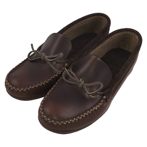 Men's Heavy Oil Tan Leather Moccasin Shoes, (ONLY 9 & 11)