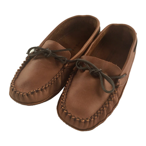 Men's Brown Wide Leather Moccasins