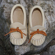 Baby Pleated Leather Moccasins
