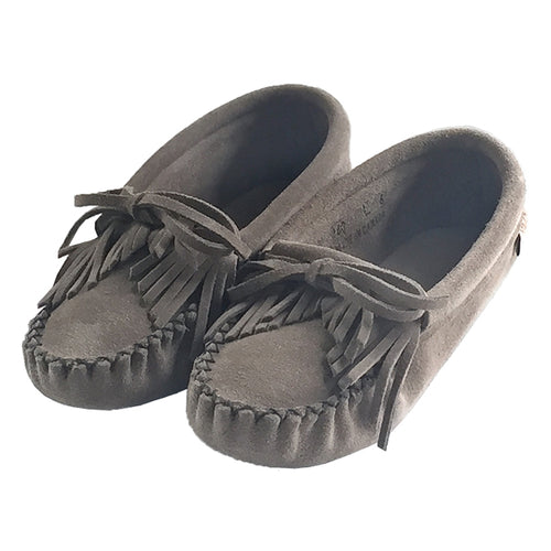 Women's Fringed Suede Moccasins