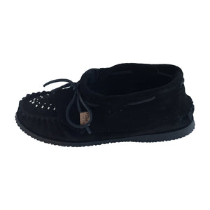 Women's Suede Beaded & Fringed Moccasin Shoes