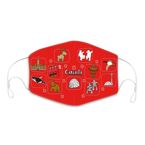 Canada Icons Children's Reusable Face Mask