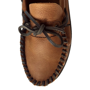 Men's Wide Leather Moccasin Shoes