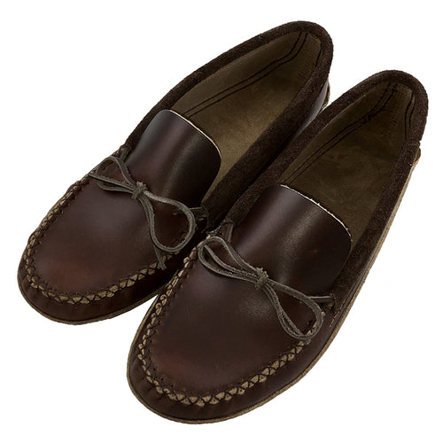 Men's Heavy Oil Tan Leather Moccasins