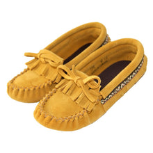 Children's Suede Fringed Moccasins