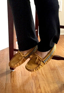 Women's Suede Fringed Moccasins