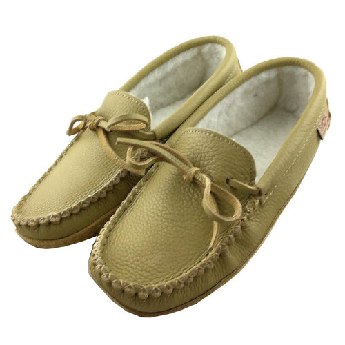Men's Fleece Lined Suede Sole Moccasins (Size 9 & 10 ONLY)