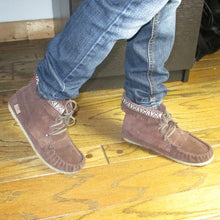 Children's Suede Moccasin Boots