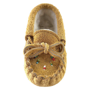 Baby Fleece Lined Beaded Suede Moccasins