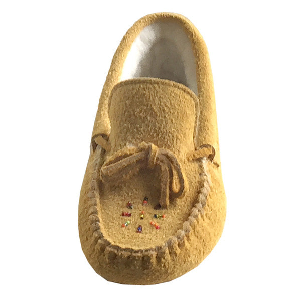 c04ee7c4e64 Women s Soft Sole Genuine Moosehide Suede Leather Moccasin Slippers ...