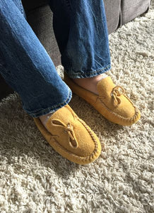 Men's Fleece Lined Suede Moccasins