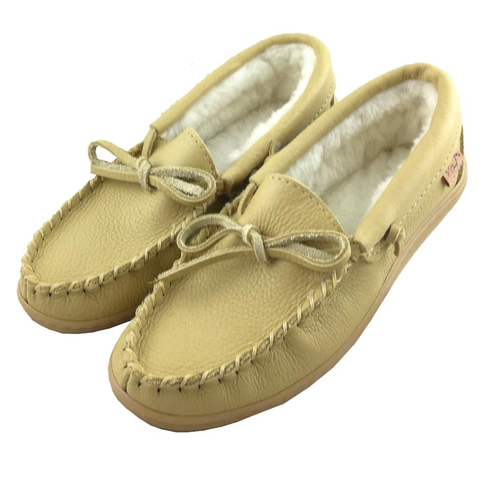 Women's Fleece Lined Rubber Sole Leather Moccasins (Size 7 & 8 ONLY)