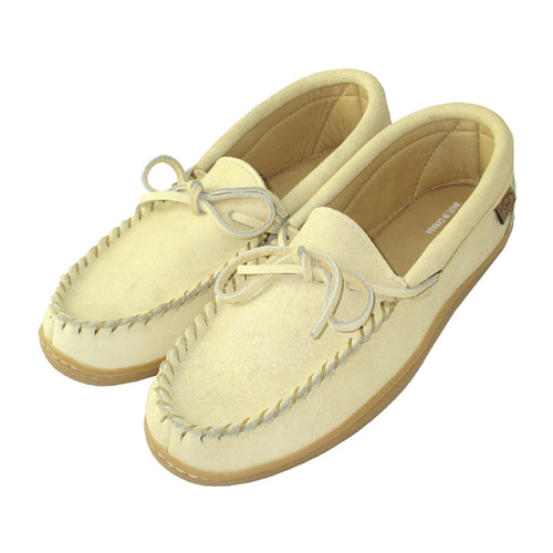 Men's Caribou Hide Leather Moccasin Shoes