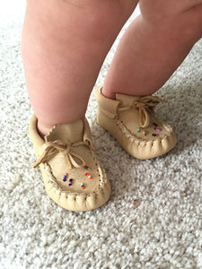 Baby Beaded Leather Moccasins