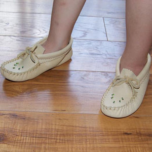 Children's Beaded Leather Moccasins
