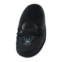 Women's Moose Hide Leather Beaded Moccasins