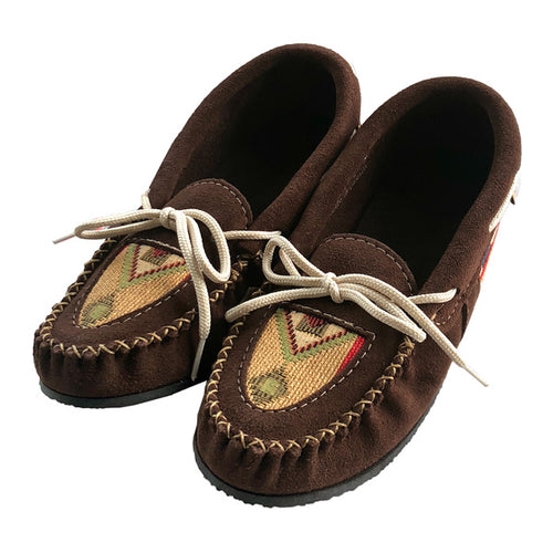 Women's Appliqué Suede Moccasin Shoes (SIZE 6 ONLY)