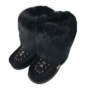 "Women's 8"" Rabbit Fur Mukluks (Size 9 ONLY)"
