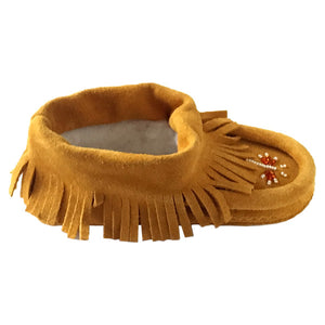 Children's Suede Fringed Beaded Moccasins