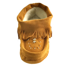 Women's Suede Fringed Beaded Moccasins