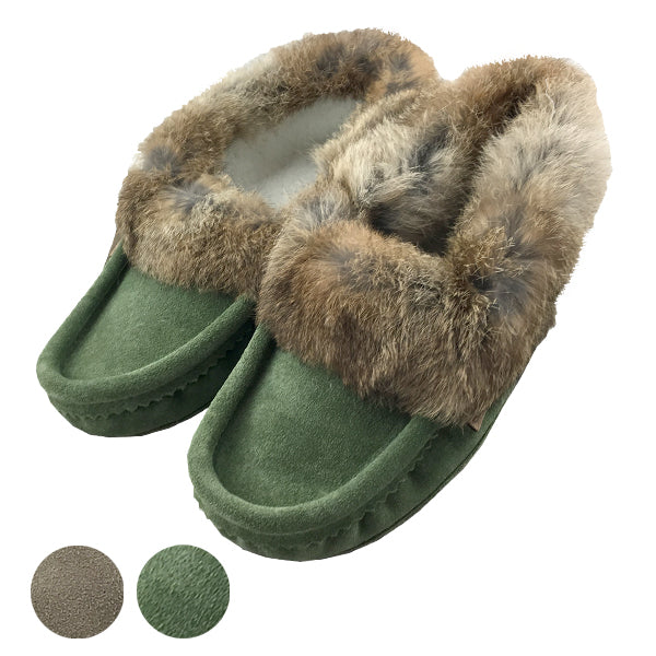 Men's Rabbit Fur Moccasins (SIZE 12 ONLY)