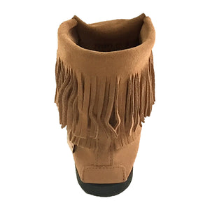 Women's Fringed Inca Suede Moccasin Boots
