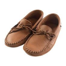 Women's Chestnut Leather Moccasins