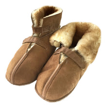 Men's Sheepskin Velcro Cabin Slippers