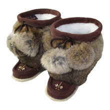 Children's Rabbit Fur Beaded Mukluks