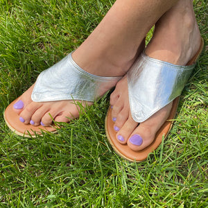 Women's Boho Leather Sandals for Earthing