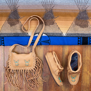 Women's Fringed Moccasins Gift Set