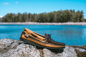 Men's Elk & Moose Hide Leather Moccasin Shoes