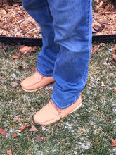 Men's Sheepskin Moose Hide Leather Moccasin Boots