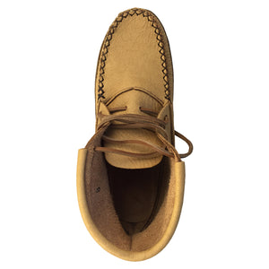 Women's Moose Hide Earthing Moccasin Boots with Heavy Oil Tan Soles