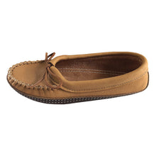 Women's Ballet Flat Earthing Moccasins with Heavy Oil Tan Soles