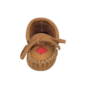 Baby & Children's Moose Hide Leather Maple Leaf Moccasins