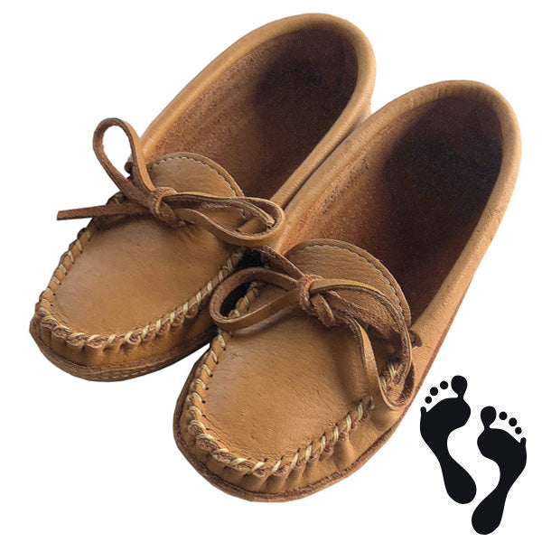 Women's Moose Hide Earthing Moccasins