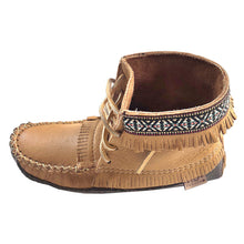 Women's Earthing Moose Hide Leather Moccasin Boots