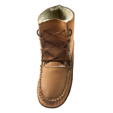 Women's Moose Hide Earthing Sheepskin Moccasin Boots