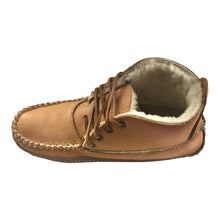 Women's Moose Hide Earthing Sheepskin Ankle Moccasin Boots