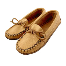 Junior Size Moose Hide Earthing Moccasins with Heavy Oil Tan Soles