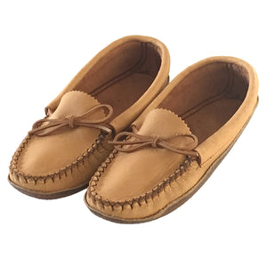 Women's Moose Hide Earthing Moccasins with Heavy Oil Tan Soles