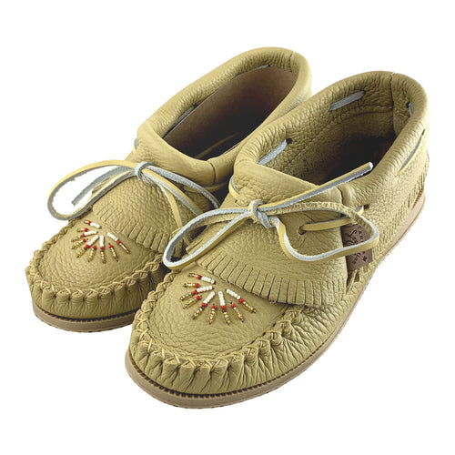 Women's FINAL CLEARANCE Beaded & Fringed Moccasin Shoes (SIZES 4, 5, 6, 10)