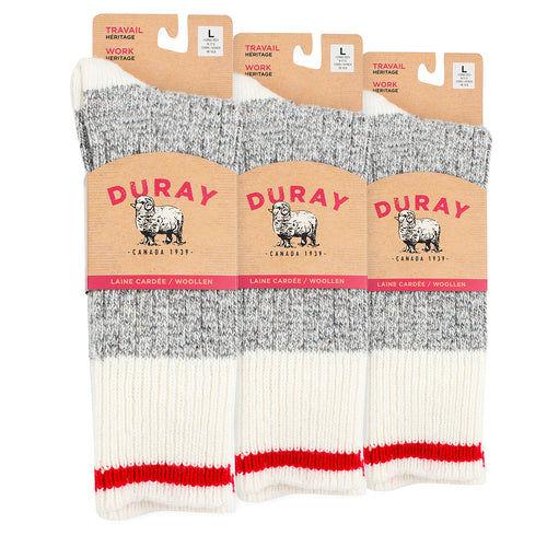 Men's & Women's Heritage Wool Work Socks 3 Pack