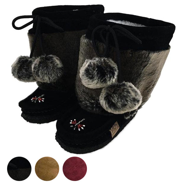 Children's Faux Fur Suede Mukluks
