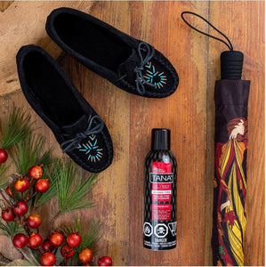 Women's Black Beaded Moccasins Gift Set