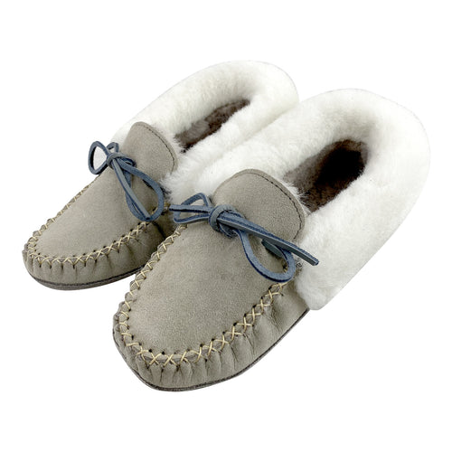 Women's Grey Sheepskin Slippers